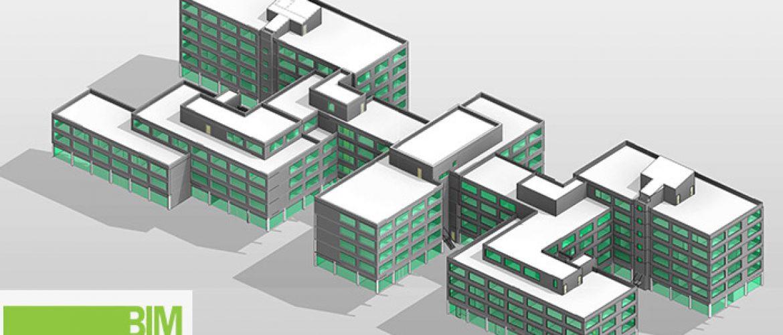 Edificio modelado Bim en Mannhein Alemania
