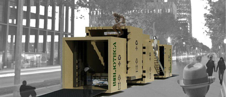 Propuesta Biblioteca Móvil con Revit en Barcelona