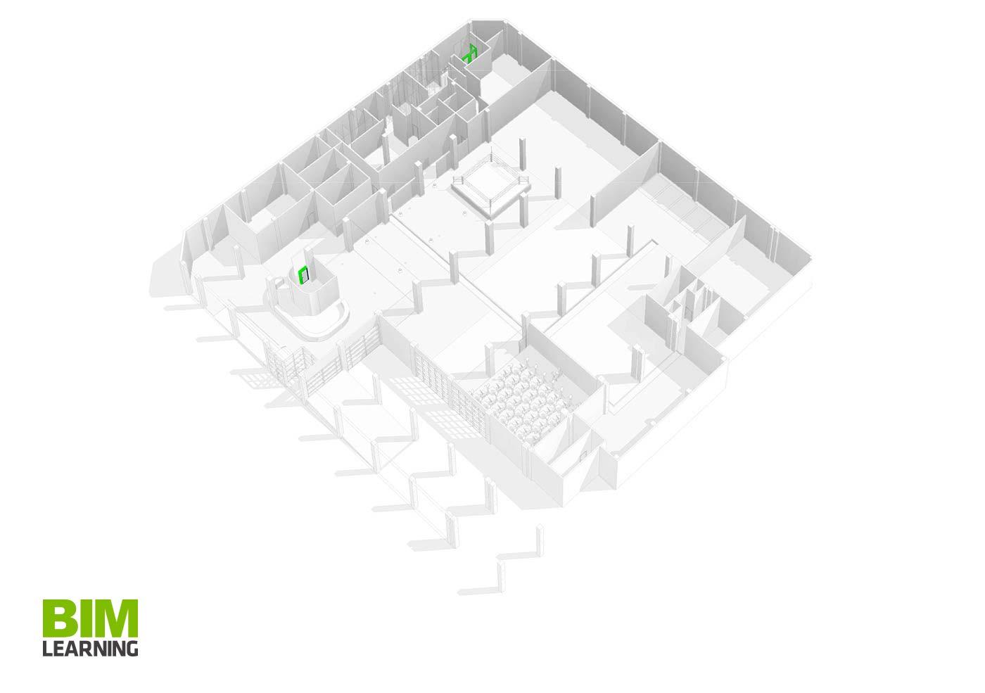 Propuesta Arquitectónica Gimnasio Corssfit en Revit