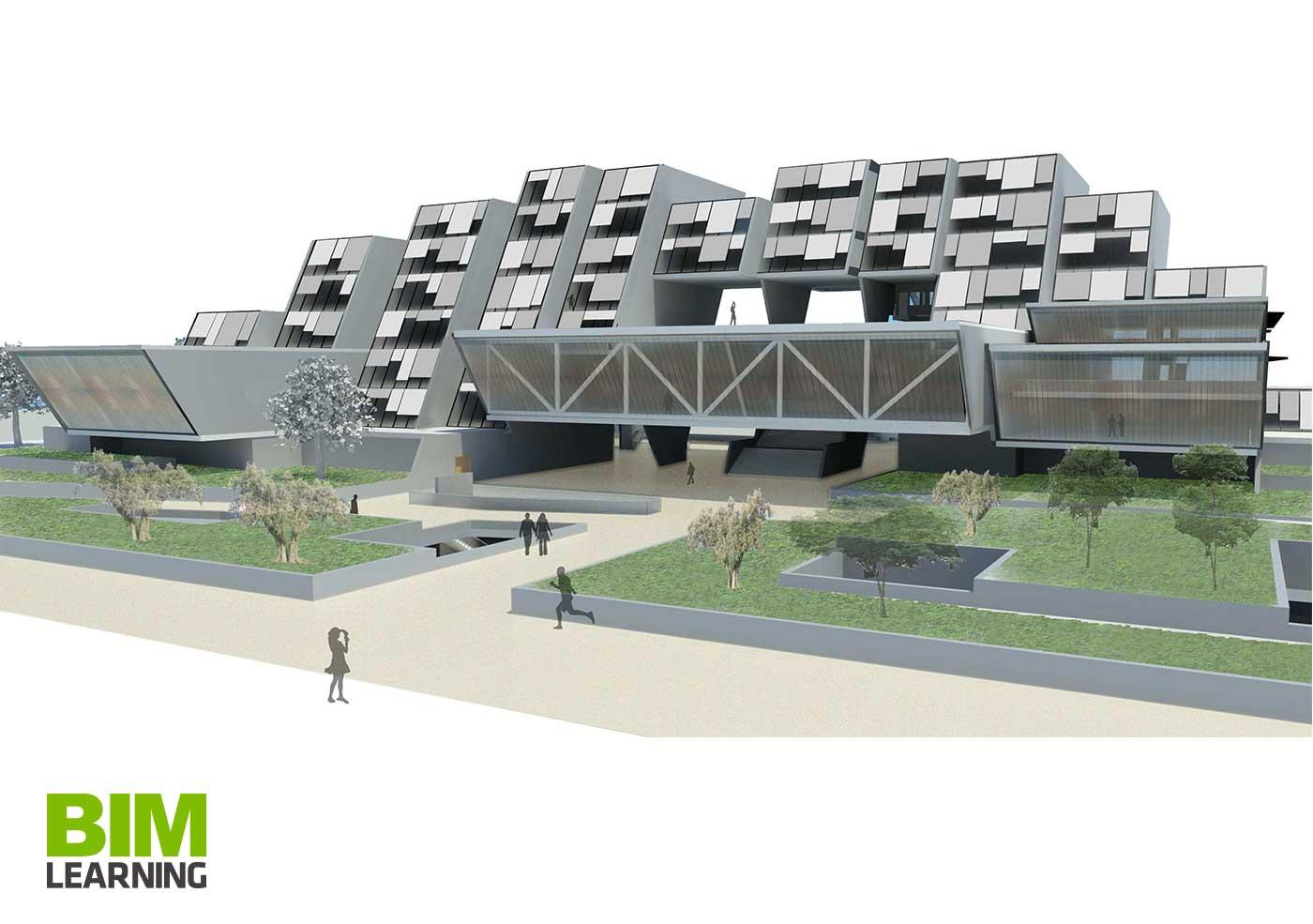 Propuesta edificio para viviendas y oficinas con Revit Barcelona